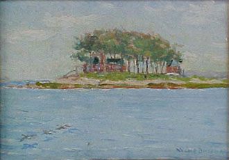 Walter Cole Brigham painting of Cedar Island from Patricia Yourdon