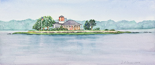 Danielle LiCausi's watercolor of Taylor's Island