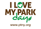 Logo for the I Love My Park Day in NY