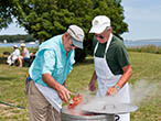 Ed Clark and Richie Surozenski cook the lobsters